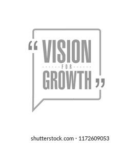 Vision for growth line quote message concept isolated over a white background