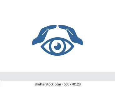 vision and insurance web icon. vector design
