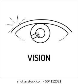 Vision Line Icon