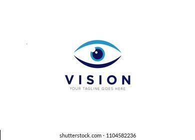 vision logo, eye icon, design template