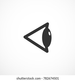 Vision sign. Human sideview eye icon illustration