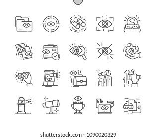 Vision Well-crafted Pixel Perfect Vector Thin Line Icons 30 2x Grid for Web Graphics and Apps. Simple Minimal Pictogram