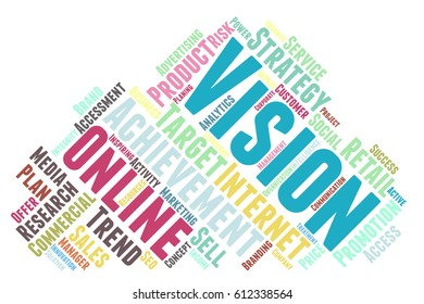 Vision word cloud typography