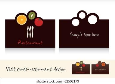 Visit card design-business card for restaurant vector