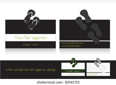 Visit card design-business card for travel agency vector