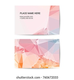visit card vector template with geometric polygonal background