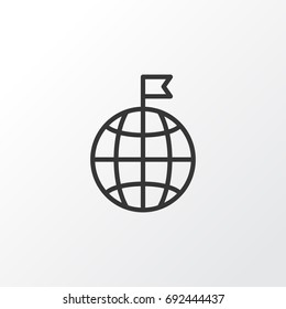 Visited Country Icon Symbol. Premium Quality Isolated Travel Direction Country Icon Element In Trendy Style.