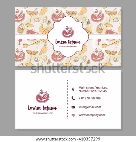 Visiting Card Business Card Cute Hand Stock Vector Royalty Free