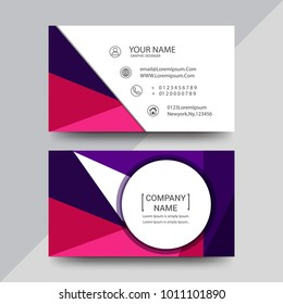 Visiting card, business card set with abstract pattern