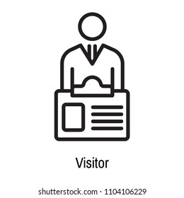 Visitor icon vector isolated on white background for your web and mobile app design, Visitor logo concept