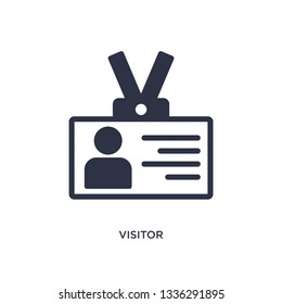 visitor isolated icon. Simple element illustration from strategy concept. visitor editable logo symbol design on white background. Can be use for web and mobile.