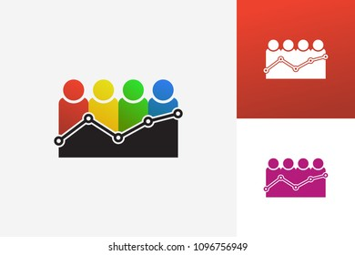 Visitor Statistic Logo Template Design Vector, Emblem, Design Concept, Creative Symbol, Icon