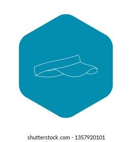 Visor icon. Outline illustration of visor vector icon for web