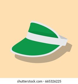 Visor icon, vector illustration design. Hats collection.