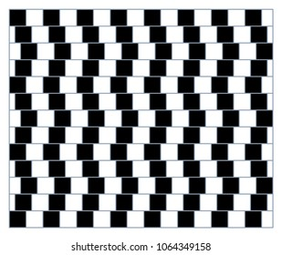 Visual deception - modern optical illusion. Funny and impossible shapes riddle. Print pattern mosaic or wallpaper.