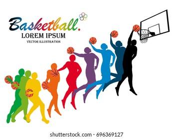 Visual Drawing Basketball Step Start Finish Stock Vector Royalty