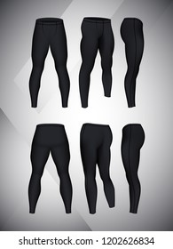 935fe85f98 Visual drawing of black color model pants elastic long leggings, quick dry,  firmly compressed