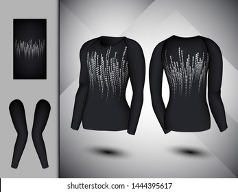 Visual drawing set of elastic stylish body clothes, firmly compression for men or women trendy fashion clothes collage athletes use fitness, flat lay, beautiful design style for vector illustration 15