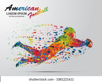 Visual drawing silhouettes of runner and jump competing finish line winning a race at american football game, , healthy lifestyle and sport concepts, abstract black and white vector illustration
