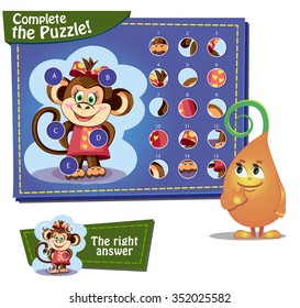 Visual Game for children. Task: complete the pazzle