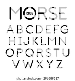 Visual guide learning Morse Code. Vector.