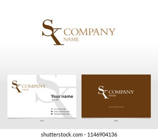 Visual identity and logo with the letter SK