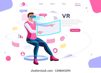 Visual images, virtual experience view. Cyberspace, flat multimedia work concept. Can use for web banner, infographics, hero images. Flat isometric vector illustration.