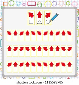 visual perception game. perception game for kids, attention development worksheet for students