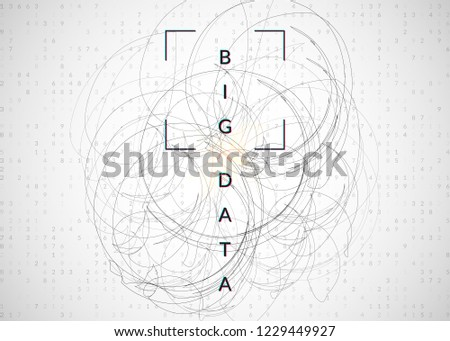Visualization Background Technology Big Data Artificial Stock Vector
