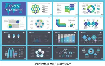 Visualization Charts Slide Templates Set