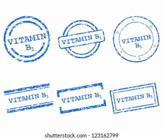 Vitamin B1 stamps