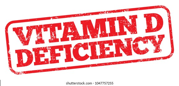 Vitamin D Deficiency. Vector Rubber Stamp.