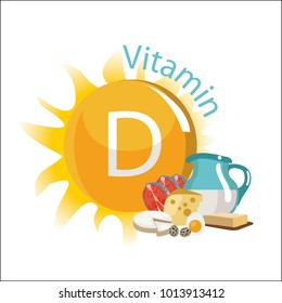 Vitamin D. Natural organic products with the maximum content of vitamin D.