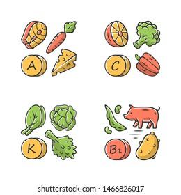 Vitamins Minerals Sources Images Stock Photos Vectors Shutterstock