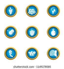 Viticulture icons set. Flat set of 9 viticulture vector icons for web isolated on white background