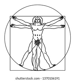 The Vitruvian man. Vector