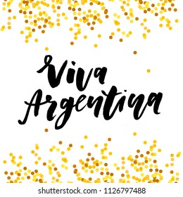 Viva Argentina independence day Phrase Vector Lettering