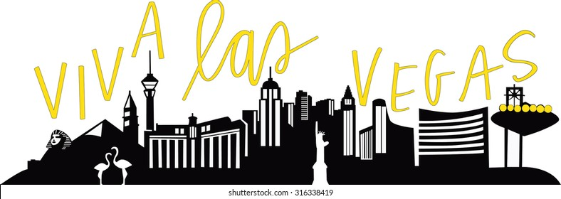 Viva Las Vegas City Skyline