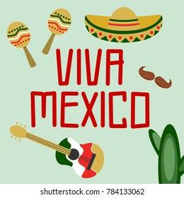 Viva Mexico Illustration