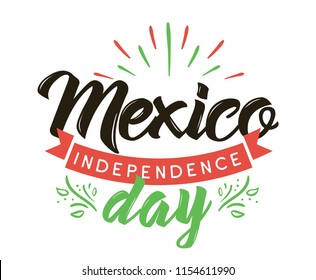 Viva Mexico. Mexico independence day. 16 september. Vector typography.