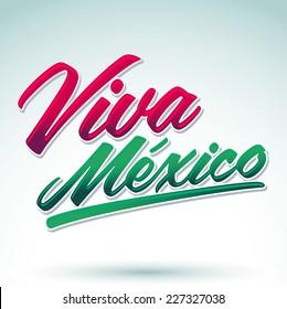 Viva Mexico - mexican holiday icon vector