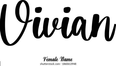 Vivian-Female Name Calligraphy Phrase on White Background