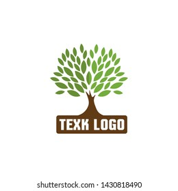 Vivid abstract tree logo design, tree vector - Inspiration of the tree of life logo design isolated with white background, Simple modern concept. Flat style vector illustration