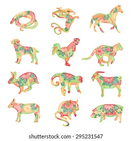 Vivid Chinese zodiac illustration