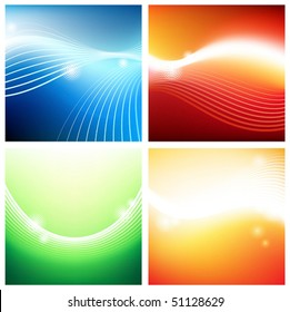 Vivid stream backgrounds. Vector illustration. Illustrator mesh tool used.