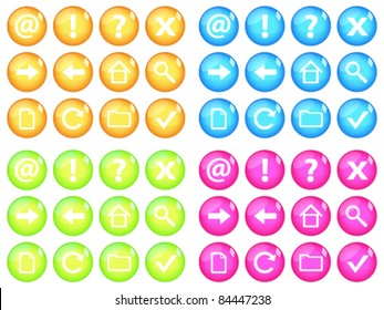 Vivid web buttons. Vector illustration.