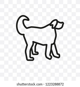 Vizsla dog vector linear icon isolated on transparent background, Vizsla dog transparency concept can be used for web and mobile