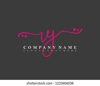 VJ Initial handwriting logo vector
