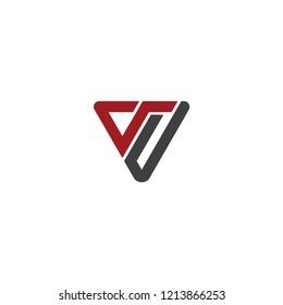 vj initial triangle logo