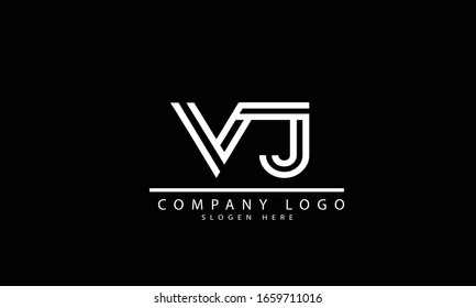 VJ JV abstract vector logo monogram template